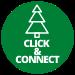 click en connect kerstboom